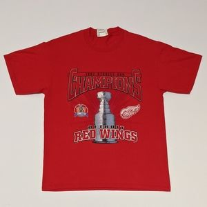 1997 Detroit Red Wings Double Sided print T-shirt